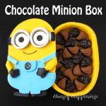 Chocolate Minion Box filled with Handmade Chocolates
