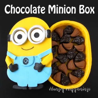 Chocolate Minion Box filled with Handmade Chocolates