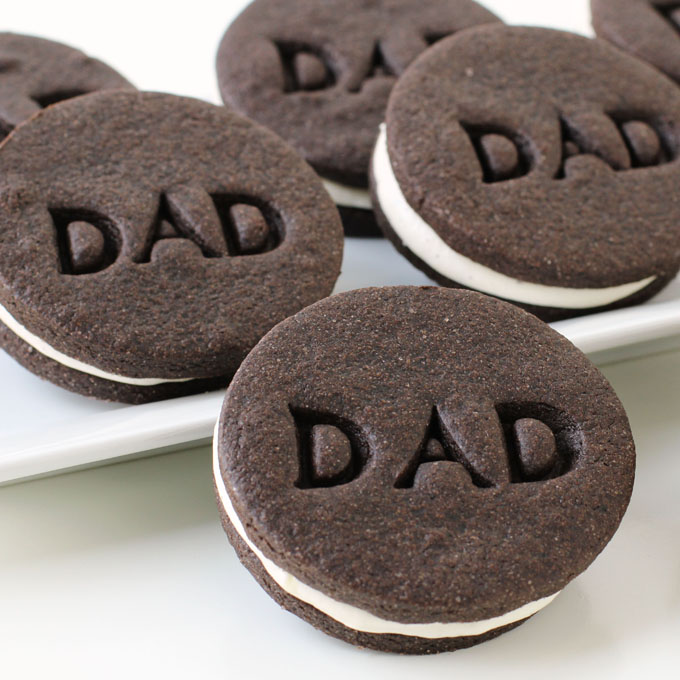 Father's Day Cookies - Chocolate Sandwich Cookie with Marshmallow Filling