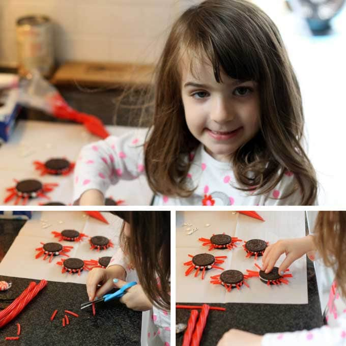 kids food crafts oreo crabs