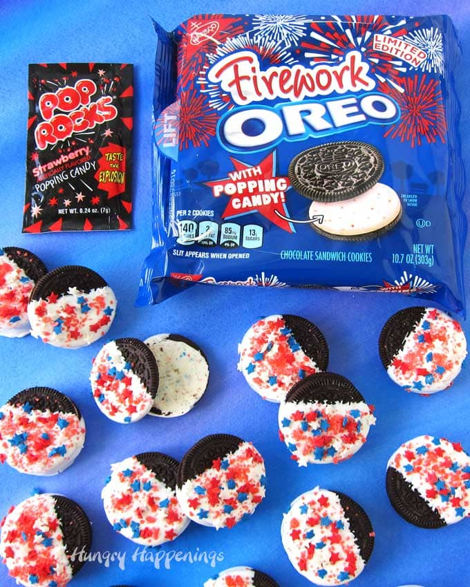 popping firework oreo cookies
