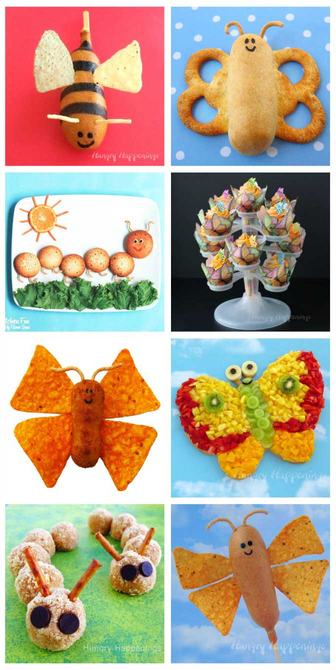 Butterfly and Caterpillar Treats and Food Crafts