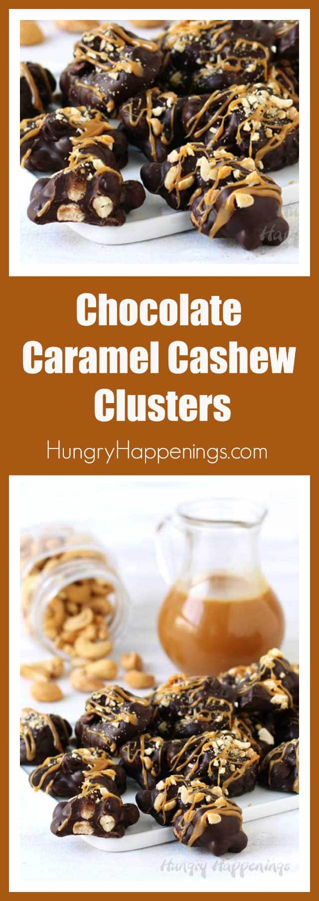 Making Chocolate Caramel Cashew Clusters at home is super easy and ...