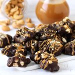Chocolate Caramel Cashew Clusters Recipe and Video Tutorial