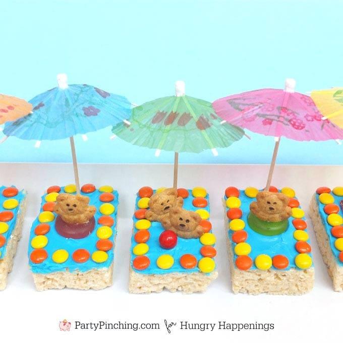 Summer Fun Treats - Kiddie Pool Rice Krispie Treats