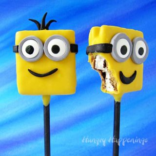 S'mores Minion Lollipops – Fun snacks for your Despicable Me Party