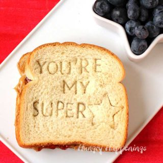Surprise your kids with this personalized PB&J Sandwich. This cute Back to School Lunch will make their day special.