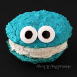 Cookie Monster Ice Cream Sandwiches - Cute Cookies