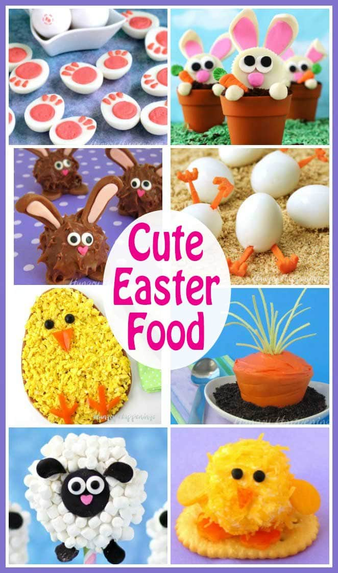 Cute Easter Food - Find Easter recipes to create fun desserts, decorated cupcakes, sweet rice krispie treats, chocolate Easter treats, and festive snacks for your holiday party.