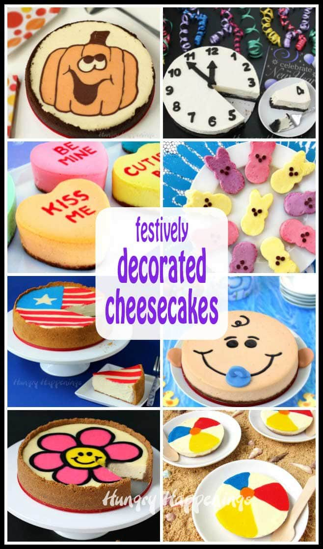 Serve one of these amazing decorated cheesecakes for a special occasion or holiday in place of a traditional cake. Your family and friends will be so impressed.
