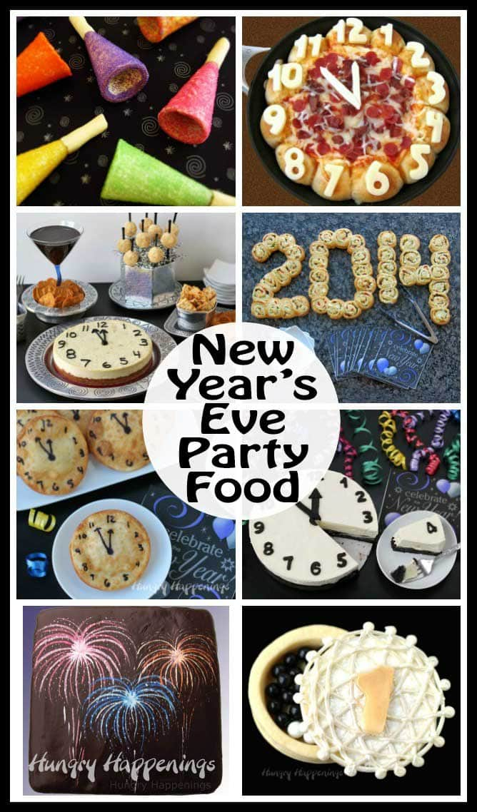 Host a party and make some festive New Year's Eve recipes for your guests. They'll enjoy appetizers and desserts that are decorated to celebrate the big event.