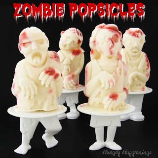 Raspberry Cheesecake Zombie Popsicles. 3-D frozen treats.
