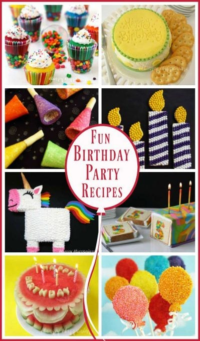 Celebrate a birthday with some of the most amazing treats. Hungry Happenings has created some festive birthday party recipes that any birthday girl or boy will love.