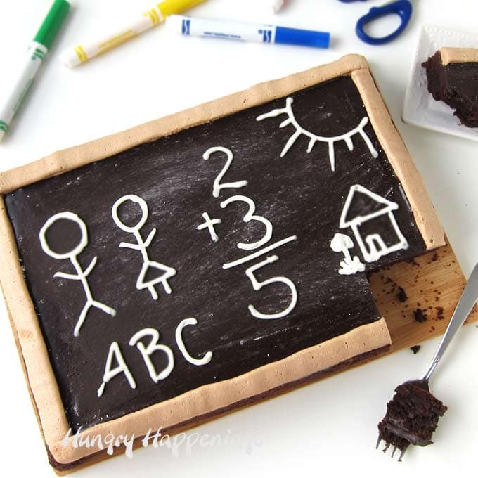 Treat your kids to a really special back to school snack. Baking them a Brownie Chalkboard will really brighten their day.