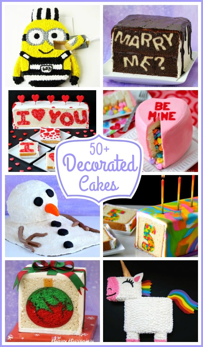 What special occasion is complete with out a cake? Find 50+ ideas for making amazing decorated cakes.