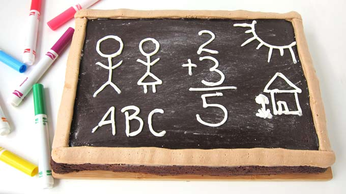 Brownie Chalkboard - fun back to school snack or amazing teacher's gift.