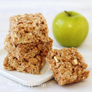Enjoy the taste of fall when you make these quick and easy Cinnamon Apple Cereal Treats.