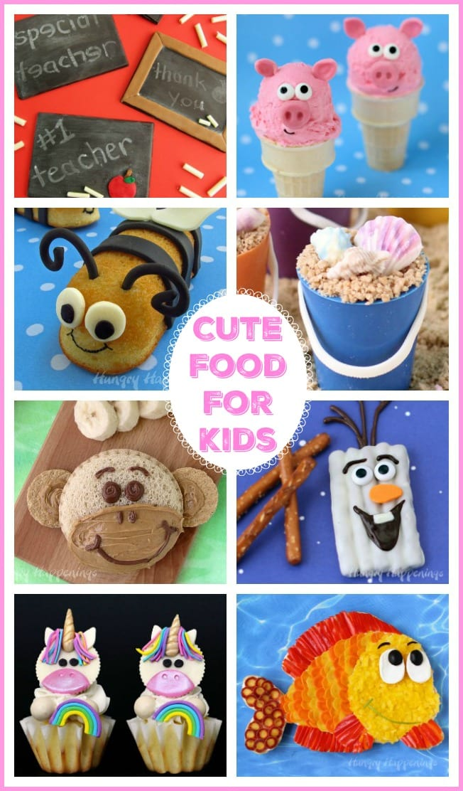 Kids and all those kids at heart will love these Cute Food Ideas. Choose from hundreds of sweet treats and adorable snack recipes to celebrate any occasion.