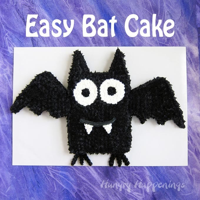 Easy Bat Cake Halloween Dessert