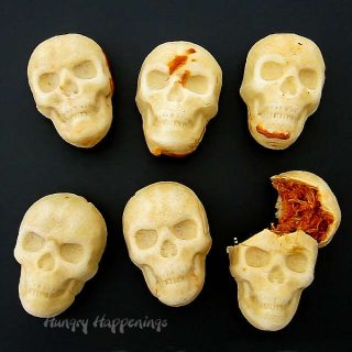 Chicken and Cheese Enchilada Skulls