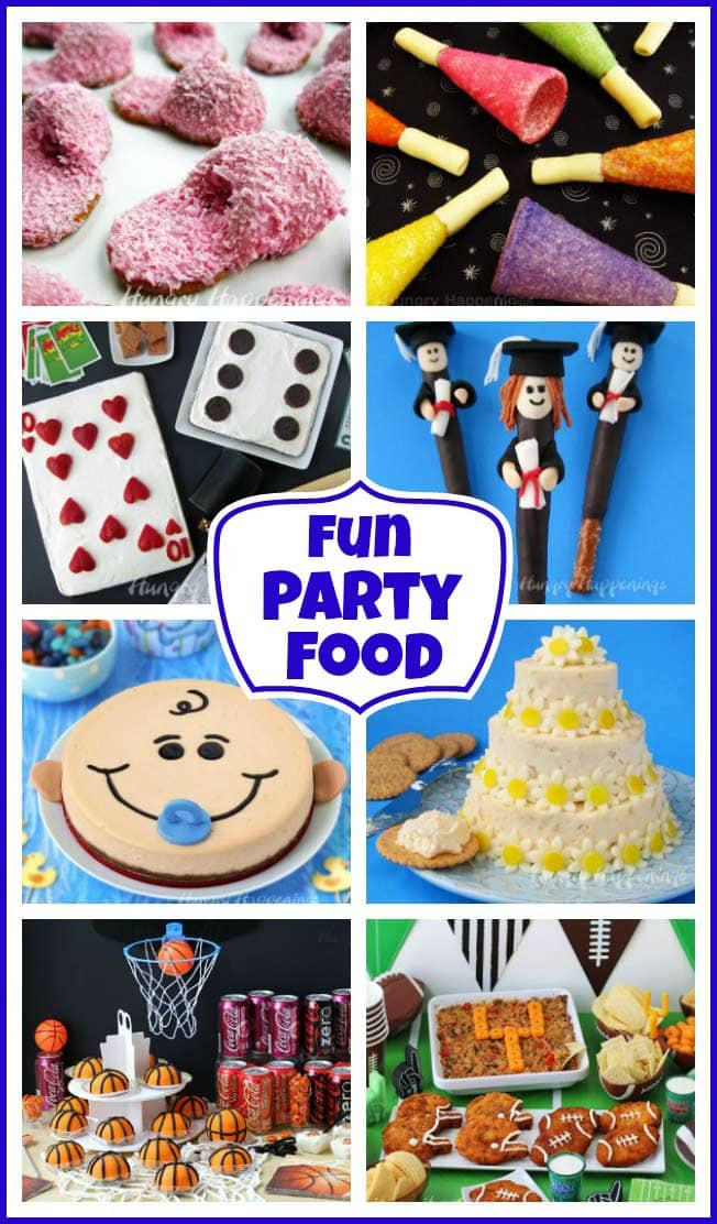 Impress your guests with fun party food. Find over 150 recipes for appetizers, snacks, and desserts that will wow your party guests.