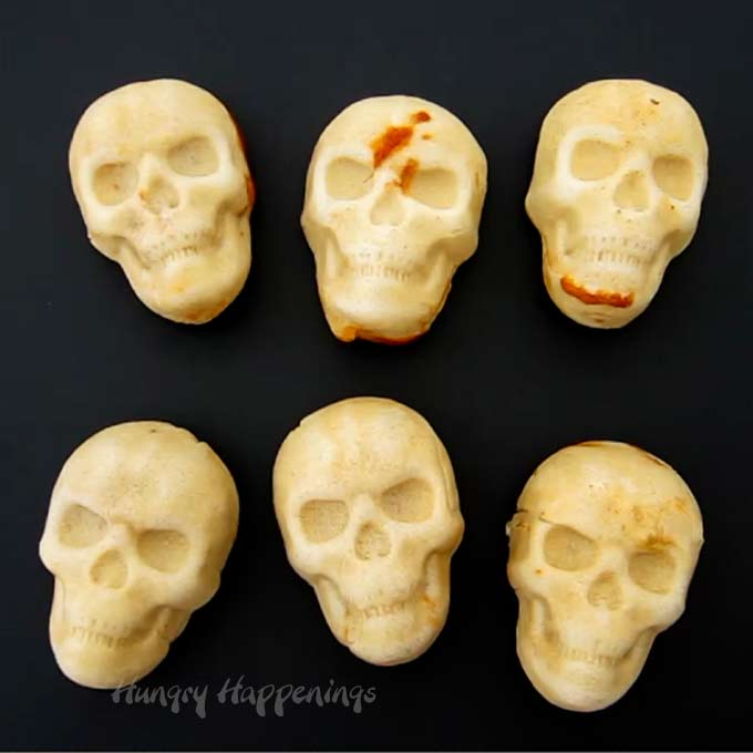 Day of the Dead Chicken Enchilada Skulls
