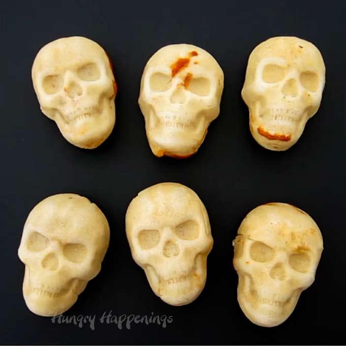 Day of the Dead Chicken Enchilada Skulls