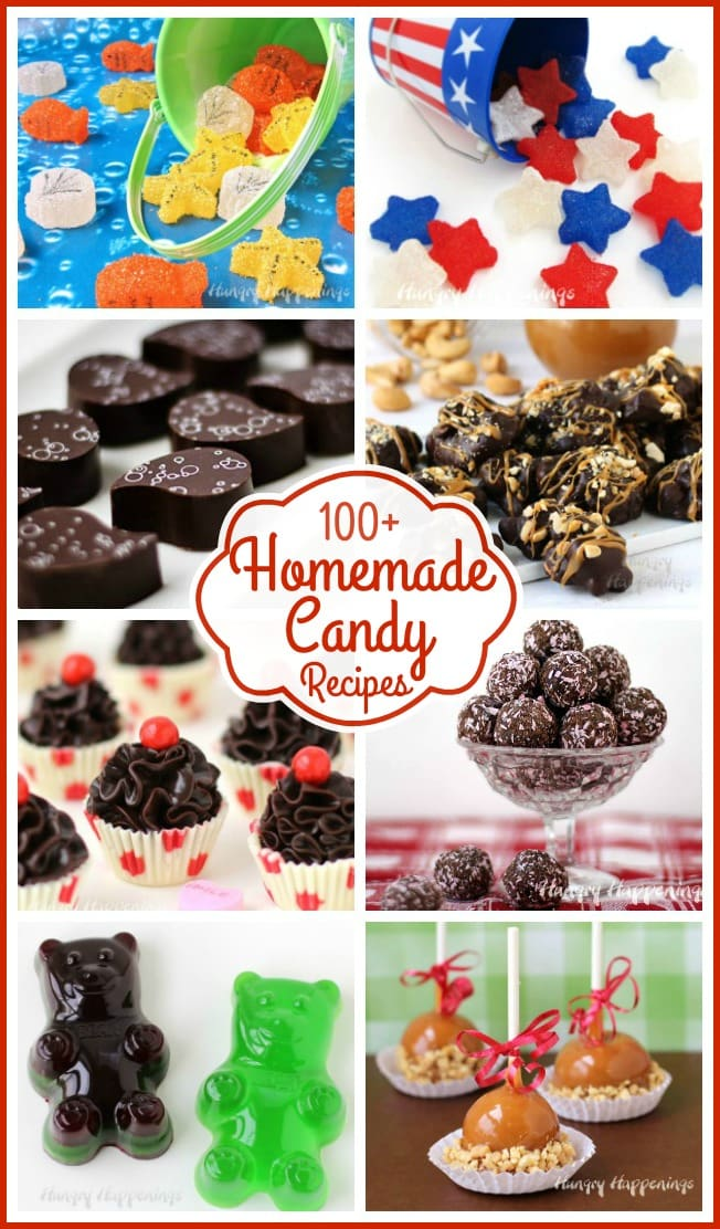 Learn how to make homemade candy including handmade chocolates, gumdrops, fudge, chocolate dipped pretzels, chocolate bark, and more.