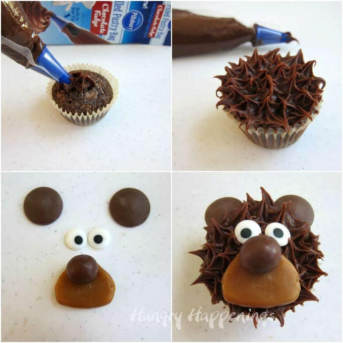 How to make bear cupcakes using a Pillsbury Filled Pastry Bag.
