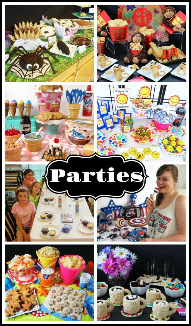 If you are hosting a party you will love all these amazing party planning ideas. You'll find dozens of recipes and decorating ideas for your parties.