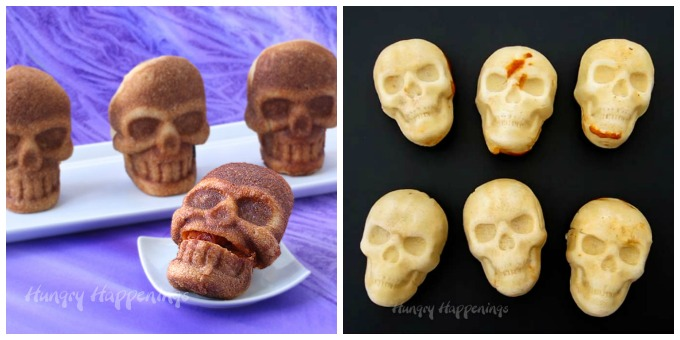 This Halloween serve a creepy dinner of Stuffed Pizza Skulls or Enchilada Skulls.