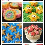 Why serve traditional rice krispie treat bars when you can turn them into amazing desserts like these Rainbow Pinwheels or Caramel Starfish Cereal Treats? See all the tutorials at HungryHappenings.com.