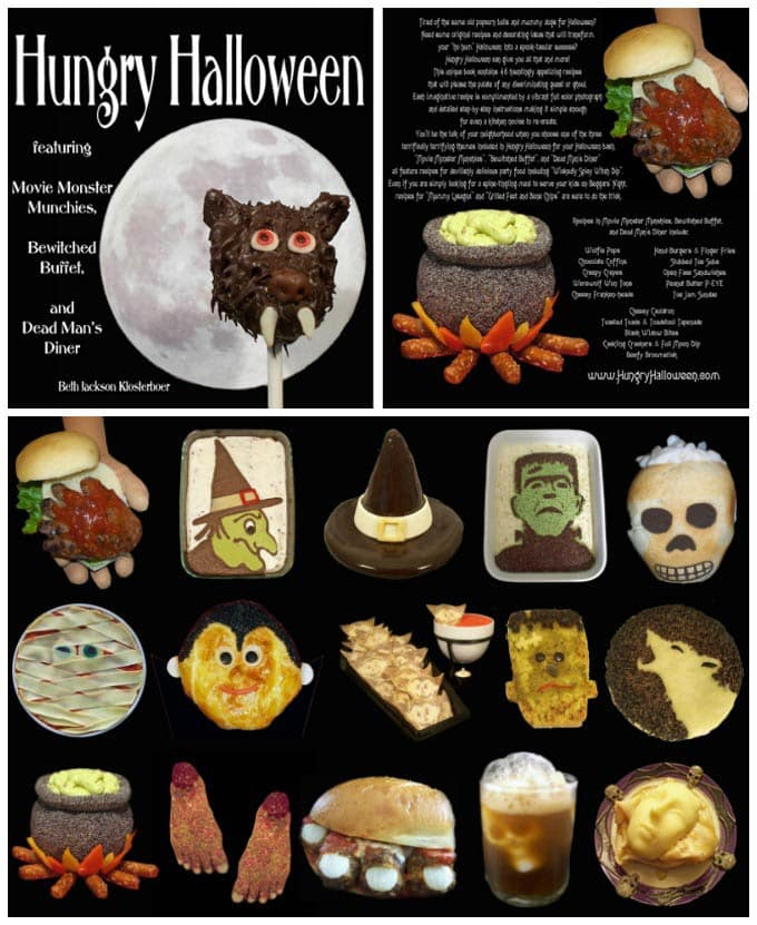 Hungry Halloween Recipe Book featuring fun Halloween food.