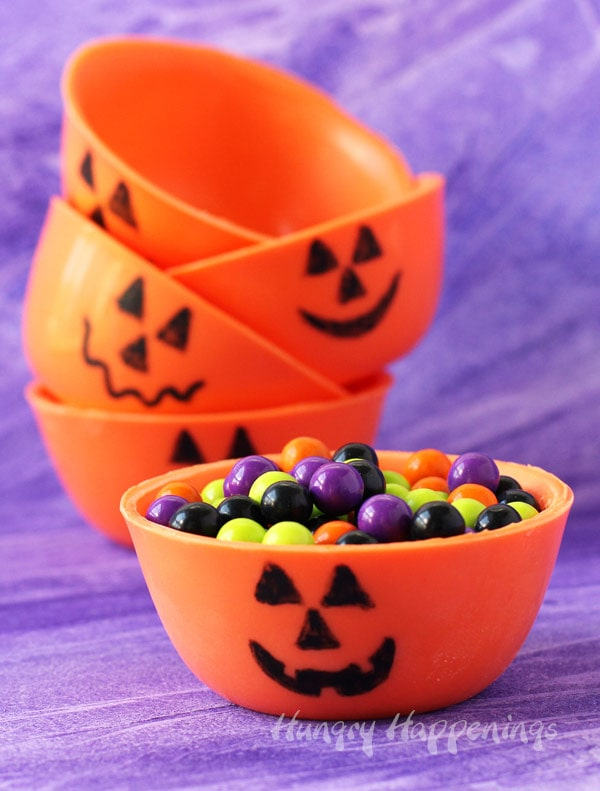 Chocolate Bowls for Halloween - Cute Pumpkins