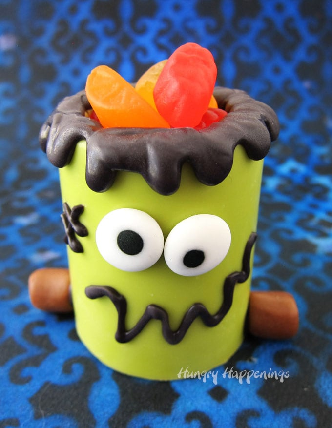 Frankenstein Snack Cups for Halloween