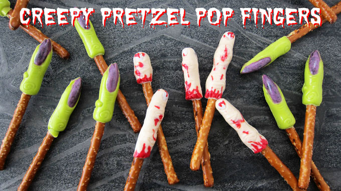 Creepy Pretzel Pop Fingers for Halloween