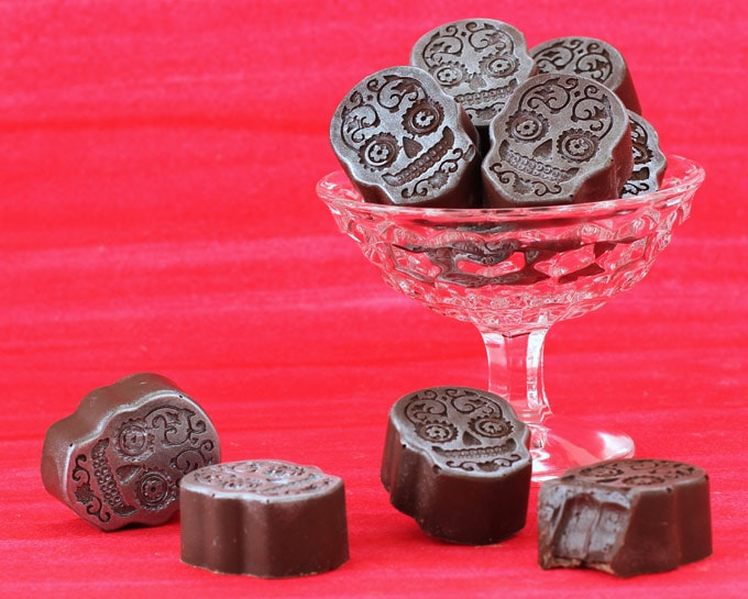 Day of the Dead Sugar Skull Chocolates - Mexican Hot Chocolate Truffles