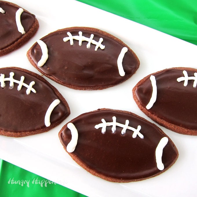 Chocolate Dr Pepper Football Cookies