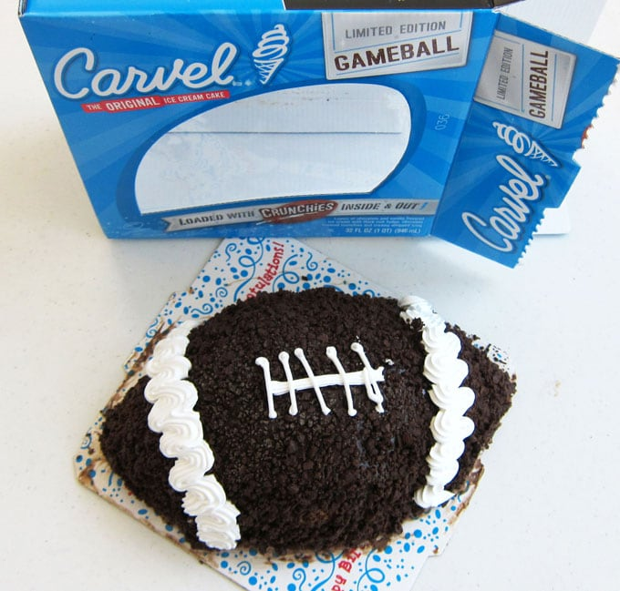 Carvel Football Ice Cream Cake