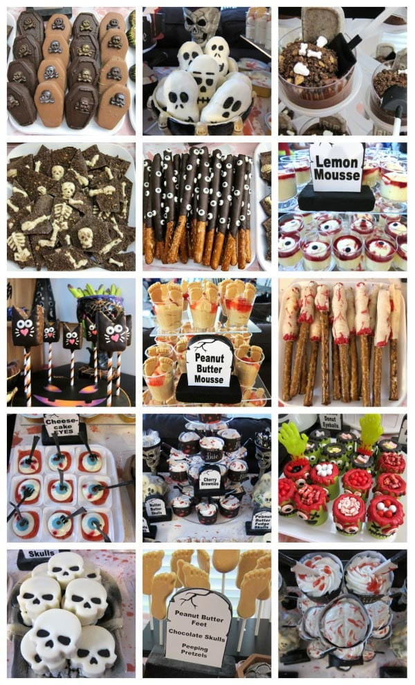 Creepy Halloween Food perfect for a Zombie themed party.