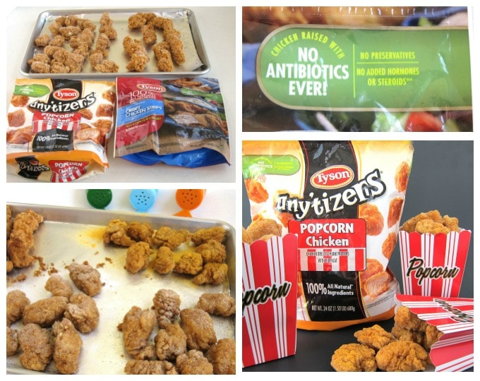 Sprinkle cheddar cheese, ranch, or garlic Parmesan popcorn seasoning over Tyson Popcorn Chicken for a quick and easy dinner or snack.