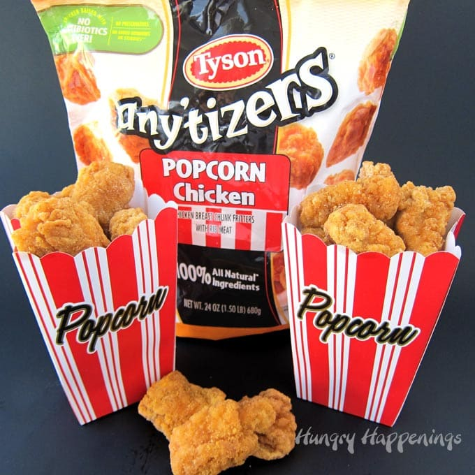 Want a fun way to serve Tyson Any'tizers Popcorn Chicken? See what I add to the nuggets!