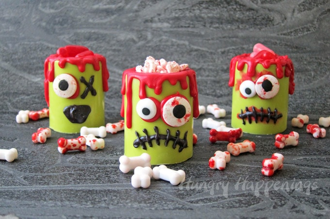 Zombie Candy Cups - fun Halloween recipe