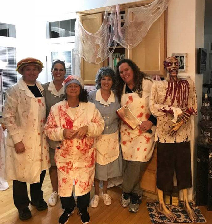 Zombie Diner Costumes for Halloween