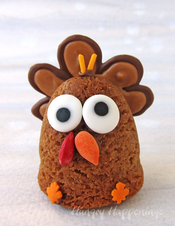 3-D Thanksgiving Turkey Cookie with Peanut Butter & Chocolate tail feathers.
