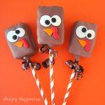 chocolate rice krispie treat turkeys