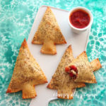 Christmas Tree Calzones - Festive Vegetarian Meal