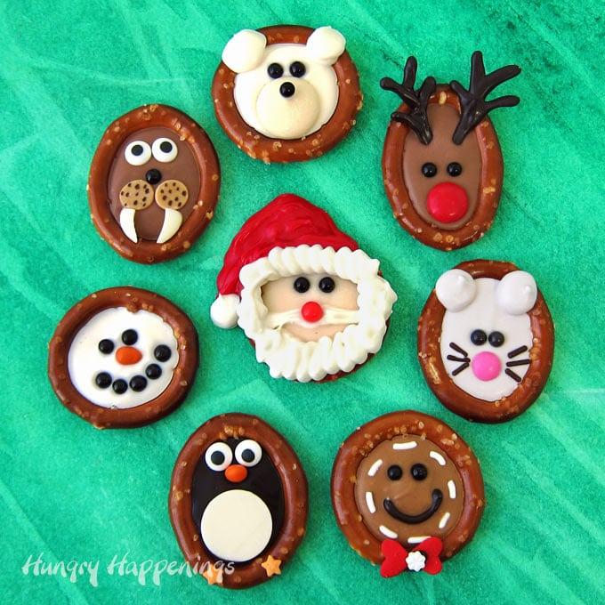 Chocolate Christmas Pretzels