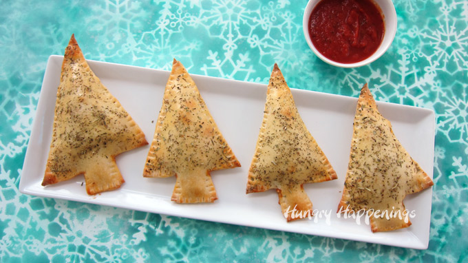 Fun Christmas Dinner - Calzone Christmas Trees.
