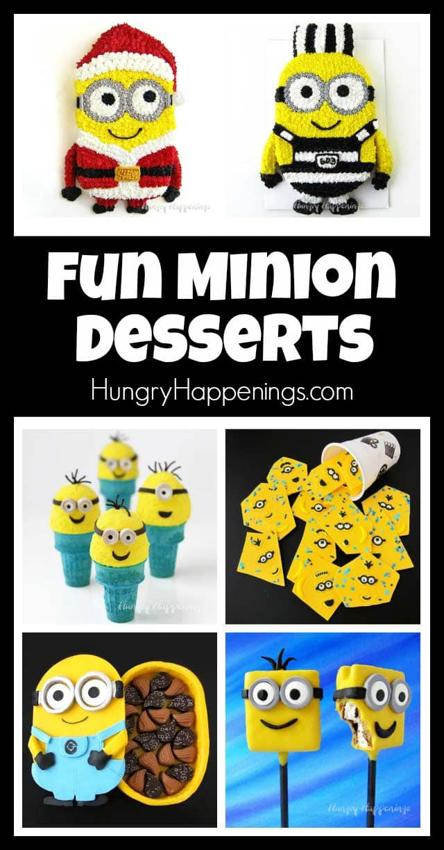 Fun Minion Desserts perfect for any Despicable Me party.